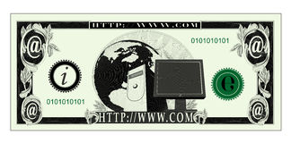 Internet money Stock Images