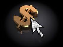 Internet money Royalty Free Stock Photo
