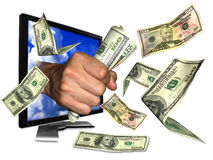 Internet money. Let's making money from internet Royalty Free Stock Image