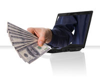 Internet money Stock Photos