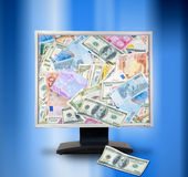 Internet money concept. Royalty Free Stock Images