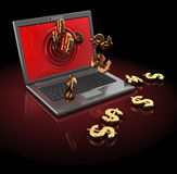 Internet money Royalty Free Stock Photos