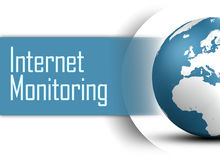 Internet Monitoring. Concept with globe on white background Royalty Free Stock Photography