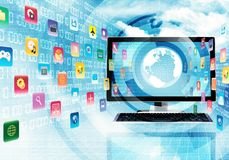 Internet and Multimedia Application Stock Photo