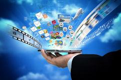 Internet multimedia on smart phone concept Stock Photography
