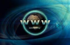 Internet mundial ilustração stock