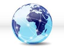 Internet, mundo em linha Imagens de Stock Royalty Free