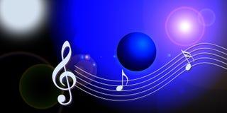 Internet music world Royalty Free Stock Photography