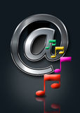 Internet-Musik/online Musik Lizenzfreie Stockbilder