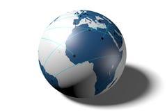 Internet nätverk som är globalt, jord, anslutning vektor illustrationer