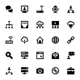 Internet-, nätverkande- och kommunikationsvektorsymboler 4 Royaltyfria Bilder