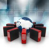 Internet na terra Imagem de Stock
