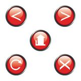 Internet navigation icons Royalty Free Stock Photos
