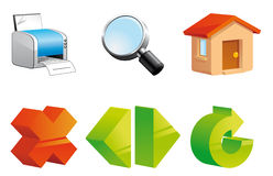 Internet navigation icons Stock Photography