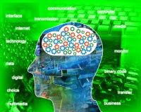 Internet nella testa Fotografia Stock Libera da Diritti