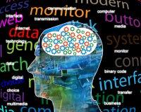 Internet nella testa Fotografie Stock