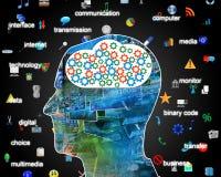 Internet nella testa Immagine Stock