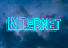 Internet neon sign Royalty Free Stock Photography