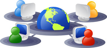 Internet network. Business and internet networking icon Stock Photography