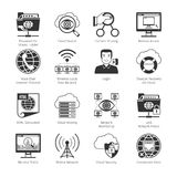 Internet  And Network Black Icons Royalty Free Stock Images