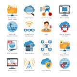Internet  And Network Flat Icons Set Royalty Free Stock Images