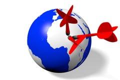 Internet, network, global, Earth, darts Royalty Free Stock Image