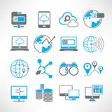 Internet and network icons Royalty Free Stock Image