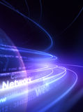 Internet. Network lines in the space Stock Image