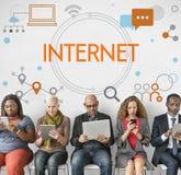 Internet Network Technology Social Media Concept Stock Photos