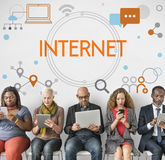 Internet Network Technology Social Media Concept. Internet Network Technology Social Media stock photos