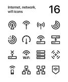Internet, network, wifi icons for web and mobile design pack 1 Royalty Free Stock Photography