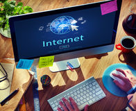 Internet Network www Globalization Connection Concept Royalty Free Stock Photo