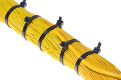 Internet network, yellow cables Royalty Free Stock Image