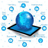 Internet networking concept and Cloud computing technology Royalty Free Stock Photography
