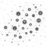 Internet networking concept Royalty Free Stock Photos
