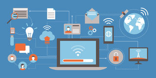 Internet and networks stock illustration