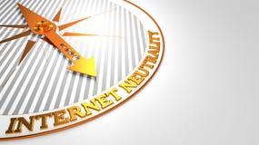 Internet-Neutralität auf goldenem Kompass vektor abbildung