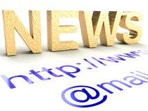 Internet news Stock Image