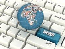 Internet News Stock Photo