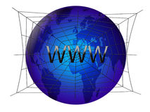 Internet no globo Fotos de Stock