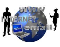 Internet no mundo inteiro Imagens de Stock Royalty Free