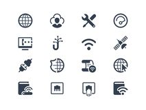 Internet- och familjeförsörjaresymboler vektor illustrationer