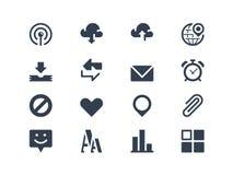 Internet- och rengöringsduksymboler stock illustrationer