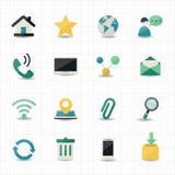 Internet- och Websitesymboler Royaltyfri Bild