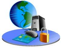 internet ochrony komputerowa Zdjęcia Stock