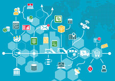 Free Internet Of Things (IOT) And Digital Business Process Automation Concept. Stock Images - 68349574
