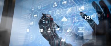 Free Internet Of Things IOT Technology With AR Augmented Reality Stock Image - 159515701