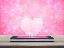 Internet online love connection, Valentines day concept Stock Images