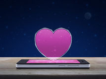Internet online love connection, Valentines day concept Royalty Free Stock Images