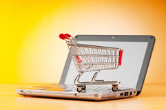 Internet online shopping concept Stock Photos